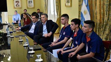 Tuvieron una reunión con el presidente Mauricio Macri y el minsitro Alejandro Finocchiaro