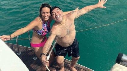Rocío y Maradona cuando eran pareja