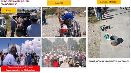Durante las protestas se repartieron palos, bebidas alcohólicas y se usaron bombas molotov (Captura de pantalla: Twitter/SSPC)