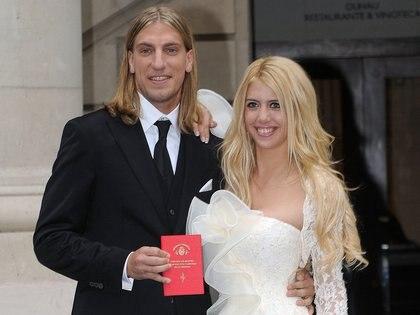 Maxi López y Wanda Nara