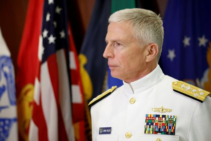 Craig Faller, jefe del Comando Sur de EEUU (REUTERS/Marco Bello)