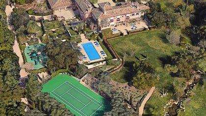 La nueva residencia de Harry y Meghan Markle no tiene nada que envidiarle a los palacios donde vivió el príncipe toda su vida (Google Maps)