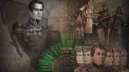 """Antonio López de Santa Anna y """"La Malinche"""" son algunos personajes históricos que están rodeados de mitos (Ilustración: Jovani Pérez / Infobae)"""