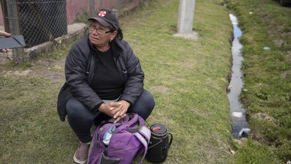 Gloria, madre de dos ocupantes del predio. Foto: Lihue Althabe