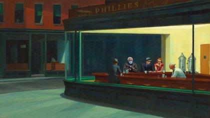 Bernie Sanders en un cuadro de Edward Hopper.