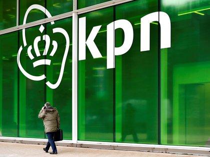 El logo de la empresa de telecomunicaciones holandesa KPN. REUTERS/Piroschka van de Wouw