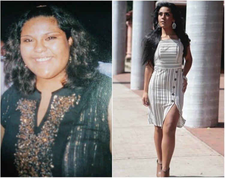 Los 50 kg. que bajó no fue de la noche a la mañana, trabajó muy duro por cuatro años en su alimentación y en ejercicio para lograr el tipo de cuerpo que le permitió entrar en el certamen de belleza Miss Earth (Foto: Alejandra Anguiano)