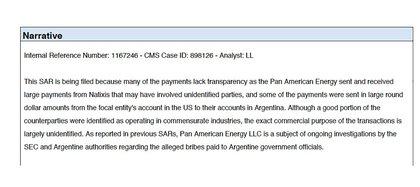 El detalle de los motivos por los que fue reportada PAE (en inglés).