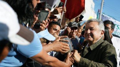 López Obrador, en el mitin de unidad al que convocó el sábado pasado en Tijuana (Foto: Presidencia de México)