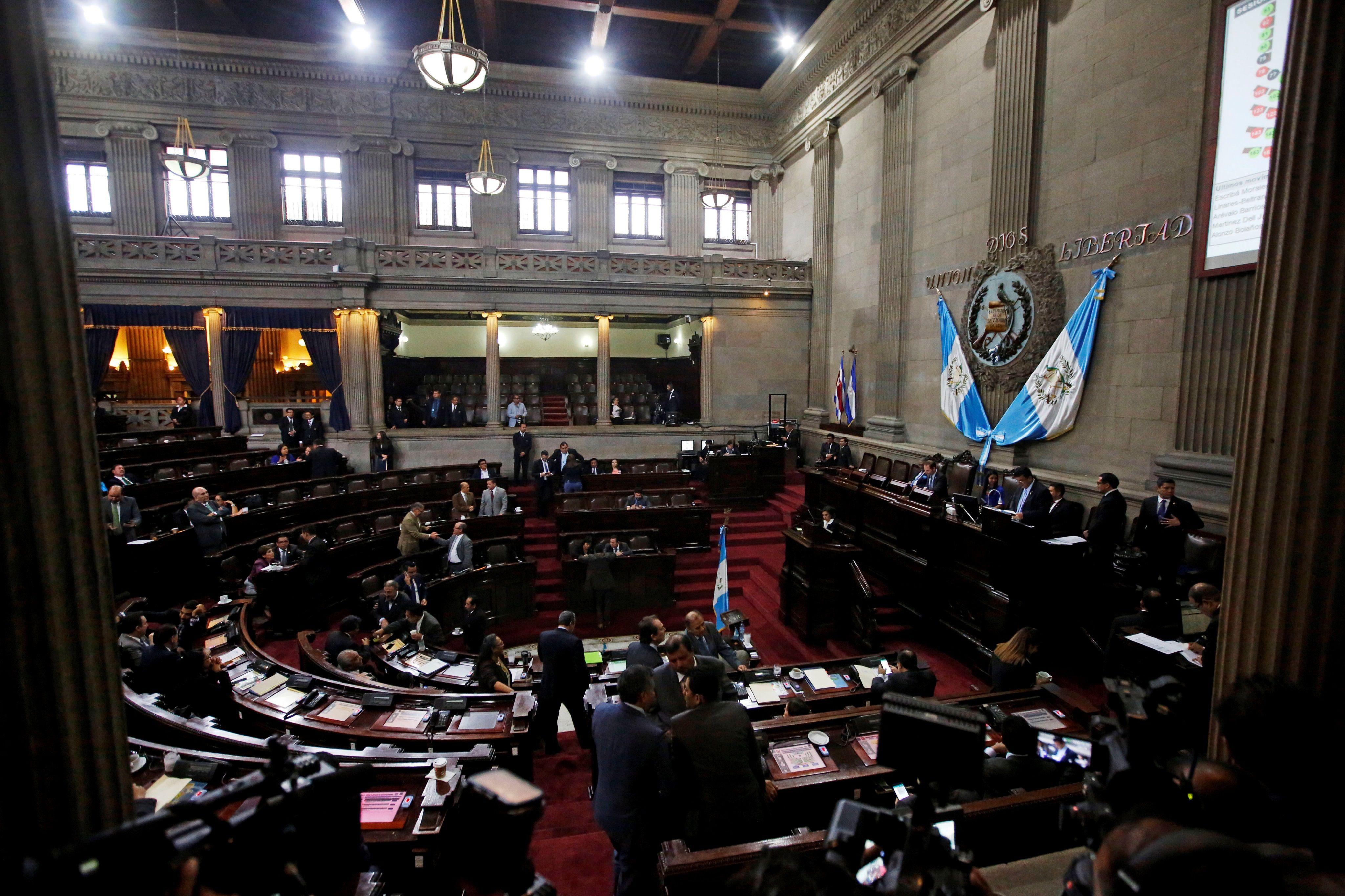 Vista general del hemiciclo del Congreso de Guatemala en Ciudad de Guatemala. EFE/Esteban Biba/Archivo