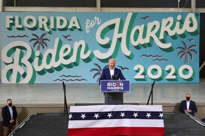 Joe Biden durante un evento de campaña en Florida. Foto: REUTERS/Tom Brenner
