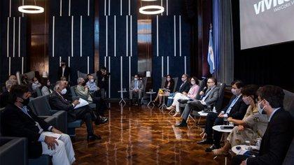 Ayer reunión del ministro Matías Kulfas con empresas alimenticias, en un contexto de elevada inflación