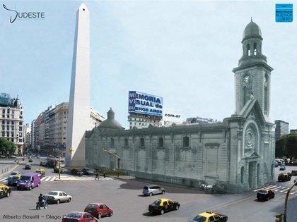 El contraste histórico del sitio donde hoy se levanta el Obelisco de la Ciudad de Buenos Aires.