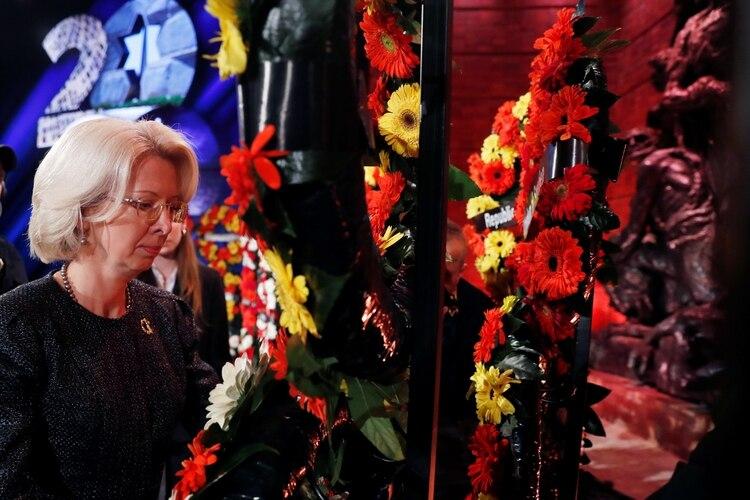 La titular del parlamento letón, Inara Murniece. Foto: Ronen Zvulun/REUTERS