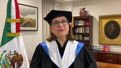 Martha Bárcena recibe doctorado honoris causa en Estados Unidos Foto: captura de pantalla graduación 2020 virtual Marymount University