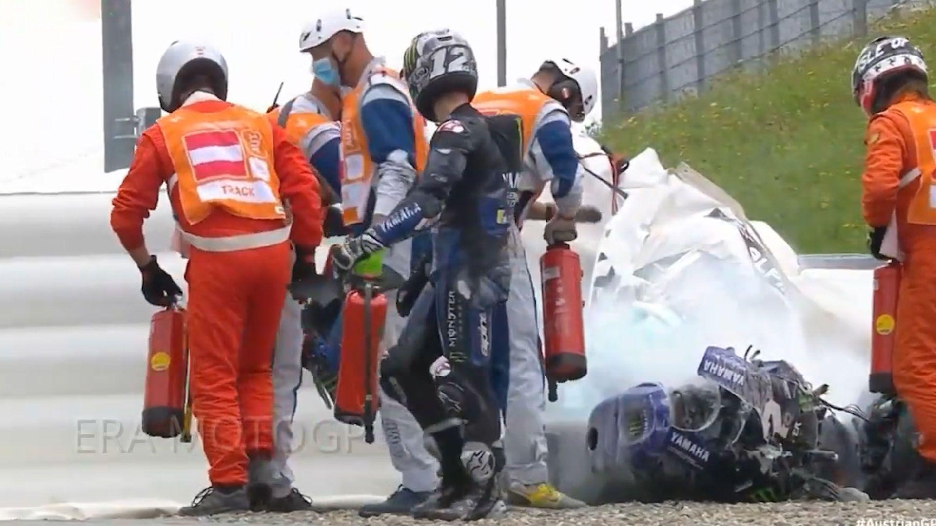 Accidente en el GP de estiria del moto GP