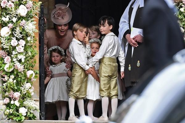 Los príncipes George y Charlotte serán parte del cortejo como lo hicieron con su tía Pipa Middleton