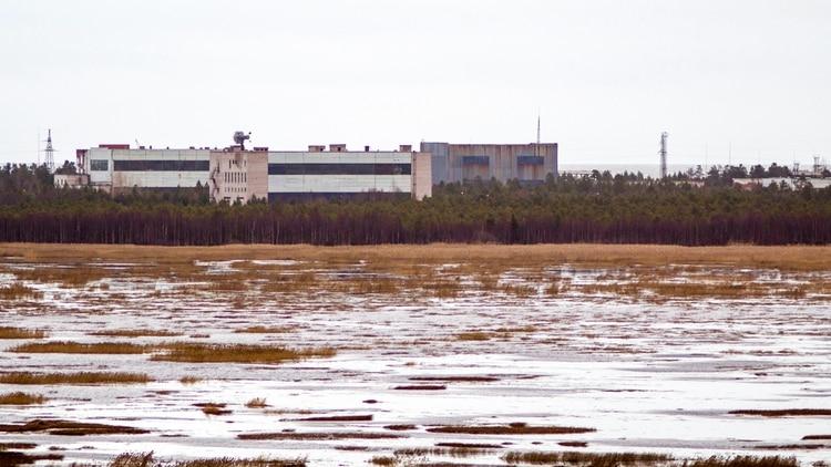 El complejo militar ruso en Nyonoksa donde se cree que se produjo la explosión (AFP)