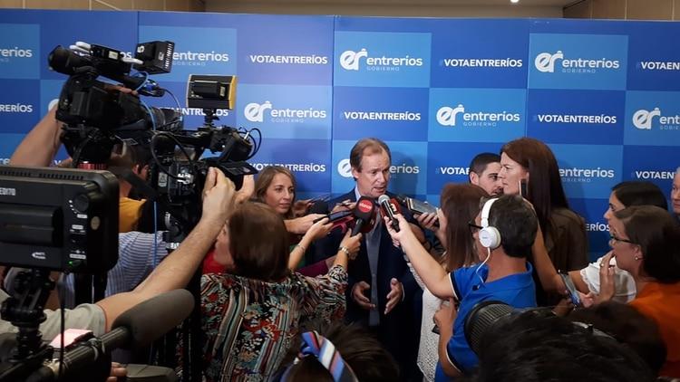 Conferencia de prensa tras el triunfo
