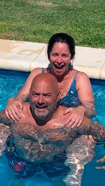 Carolina y Fernando en uno de los viajes que hacen para verse