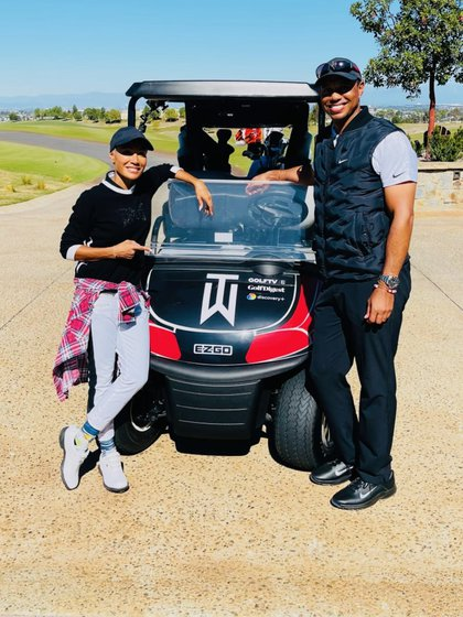 Jada Pinkett Smith publicó unas imágenes con el golfista el lunes pasado (Foto: jadapsmith/Twitter)