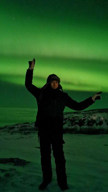 En Teriberka disfrutando de las increíbles auroras boreales