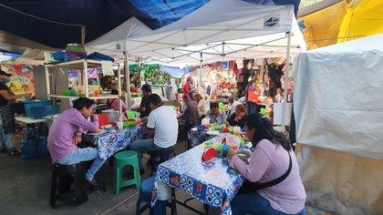 Una imagen de un mercado en la Ciudad de México, donde el riesgo de contacto con el virus es cada vez mayor por las medidas del gobierno.
