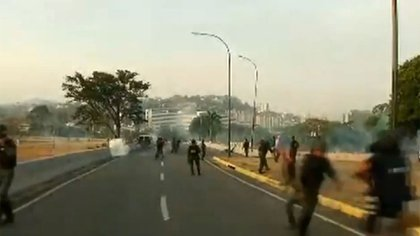 Militares chavistas reprimieron en las afueras de La Carlota