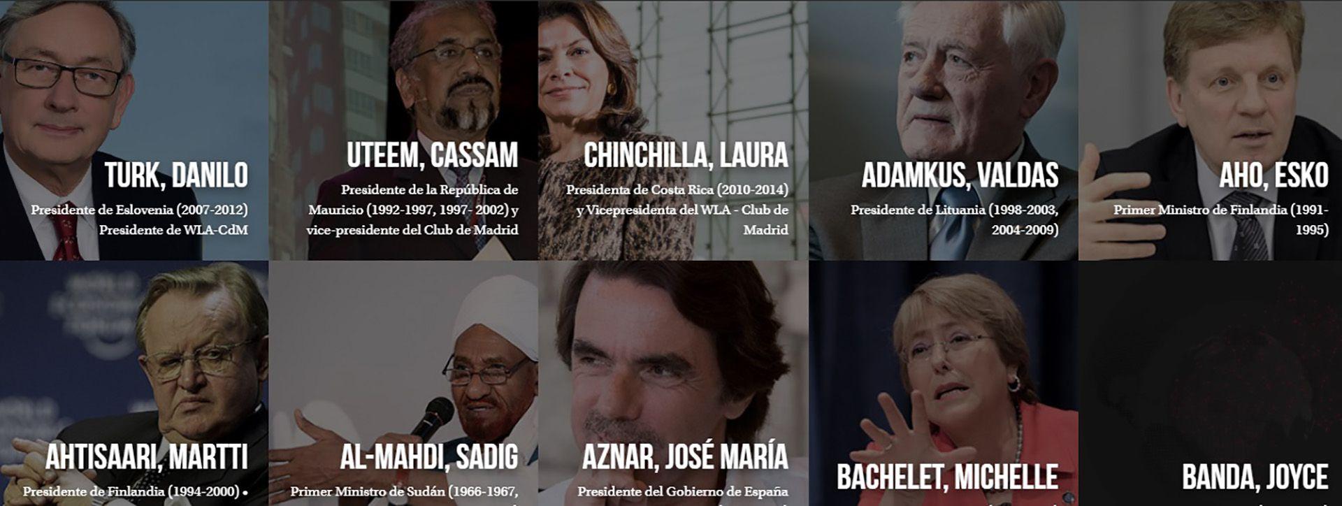 Algunos de los ex mandatarios que integran el Club de Madrid