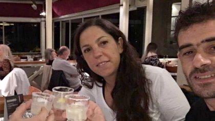"""Fernando """"Cucusa"""" Pereiras y su mujer, Natalia"""