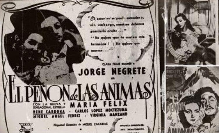 La primera película de María Félix con Jorge Negrete, quienes pasaron del odio al amor (Foto: Gentileza El Universal)