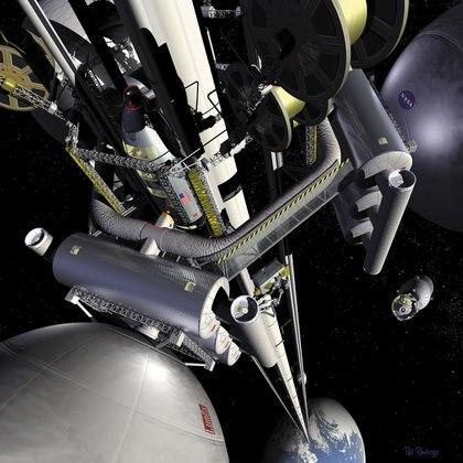 La NASA sigue de cerca este proyecto japonés y también difunde imágenes de su propio ascensor espacial