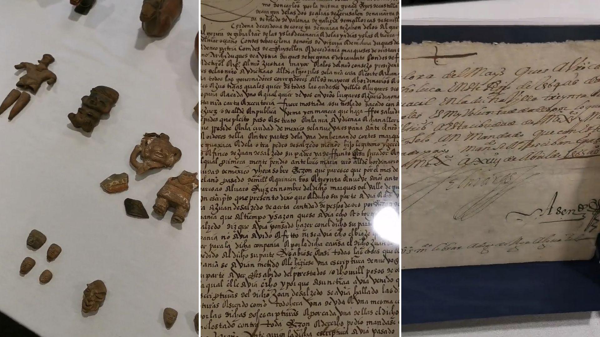 Documentos históricos del siglo XVI, incluyendo Carta de Hernán Cortés recuperados