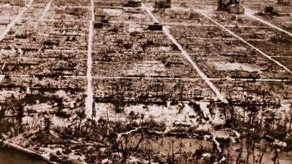 Vista aérea de las ruinas de Hiroshima