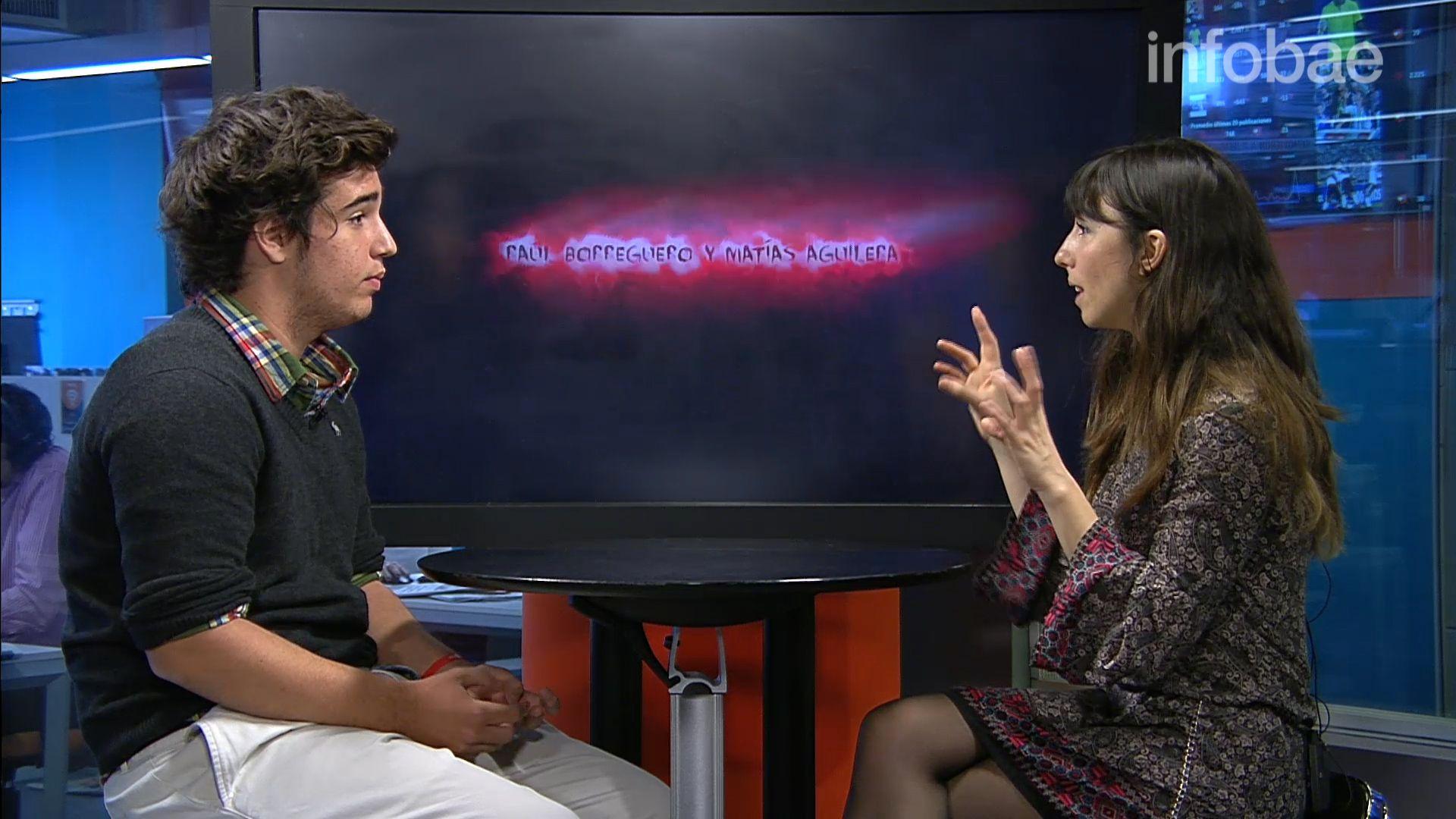Giovanetti durante una entrevista con Infobae en 2016 cuando lanzó su videojuego You Deserve