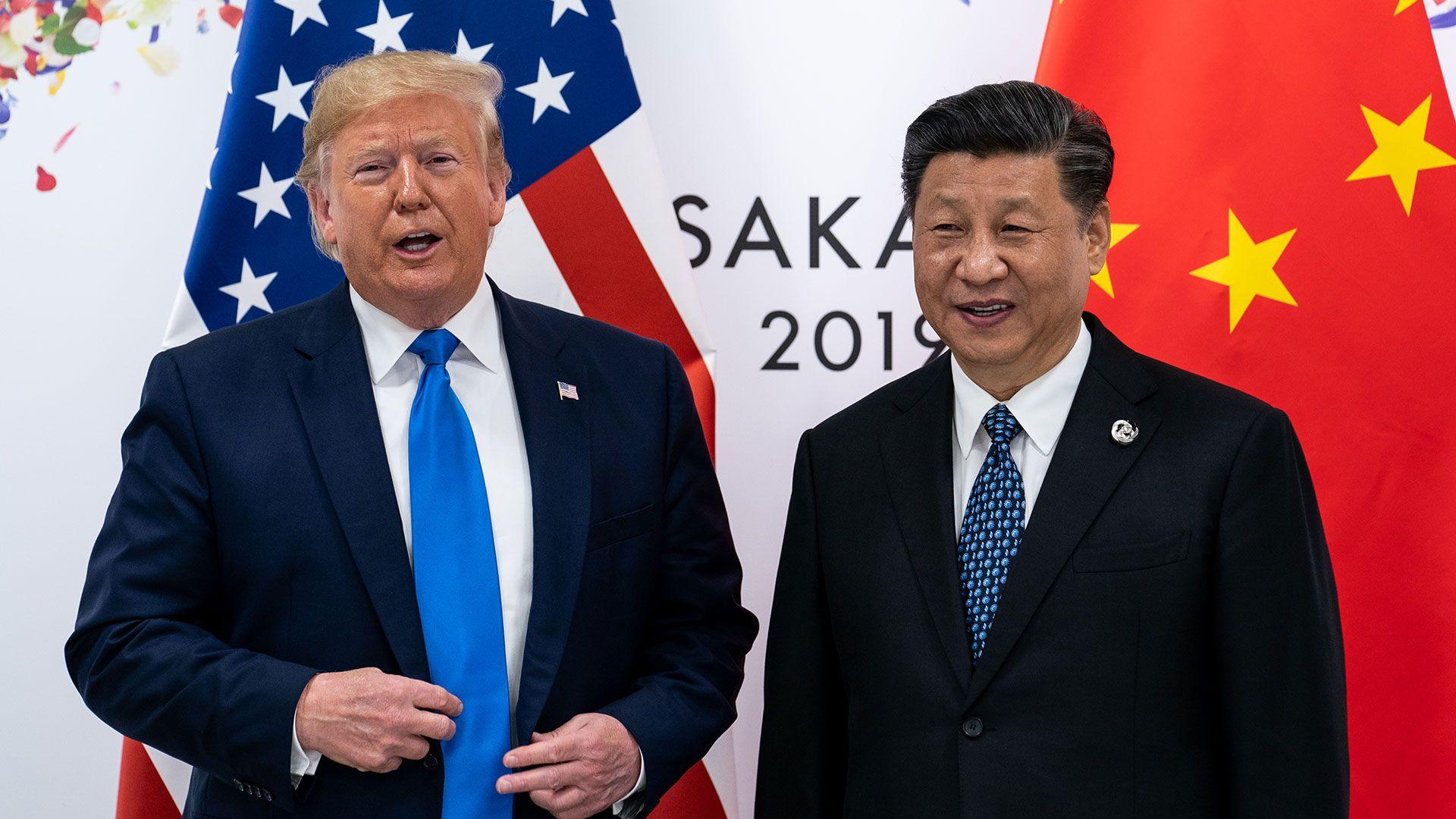 Donald Trump junto al presidente chino Xi Jinping durante su encuentro en la cumbre del G20 en Osaka (Erin Schaff/The New York Times)