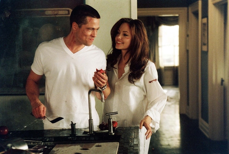 Brad Pitt y Angelina Jolie en