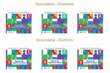 Los cuadernos de trabajo son para alumnos y docentes primaria y secundaria (Foto: SEP)