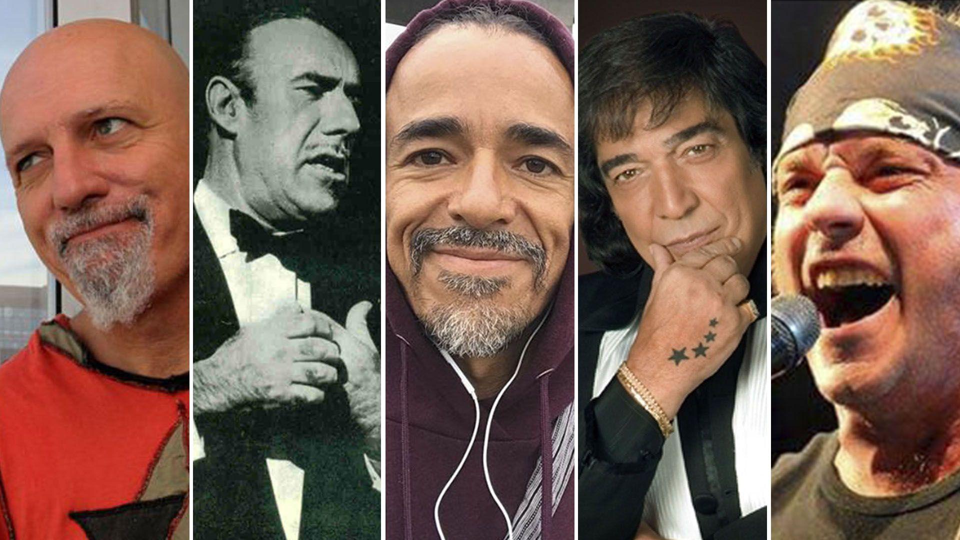 Gustavo Cordera, Edmundo Rivero, Rubén Albarrán, Cacho Castaña y Gustavo Nápoli, de La Renga