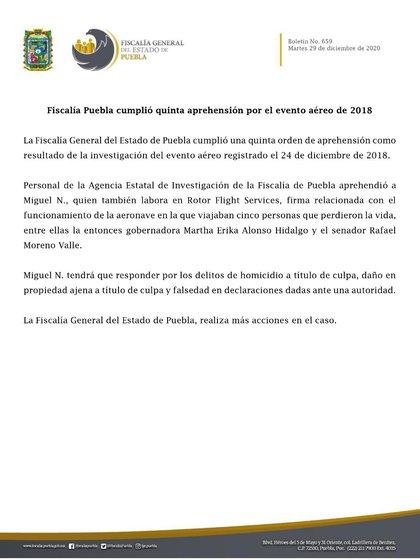 (Foto: Fiscalía General de Estado de Puebla)