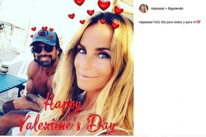 """El posteo de la modelo en Instagram el pasado """"San Valentín""""."""