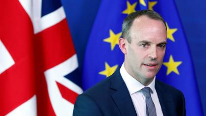 Dominic Raab, secretario británico para el Brexit (REUTERS/Francois Lenoir)