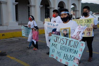 Protestas en Chiapas para localizar a Dylan. (Foto: EFE)