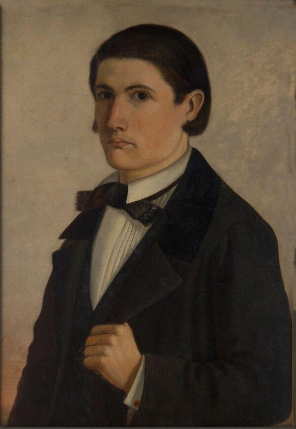 """""""Autorretrato"""", de Cándido López. 1858"""