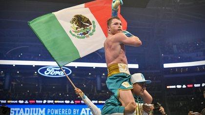 Cómo festejó Canelo Álvarez su victoria contra Saunders