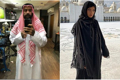 Babo hizo referencia al reciente viaje de Belinda por Emiratos Árabes (IG: babo_cartel/belindapop)