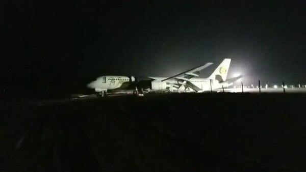 El Boeing 757-200 transportaba a 118 pasajeros y ocho tripulantes