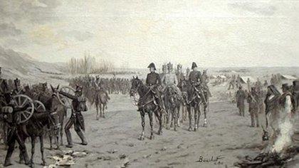 José de San Martín y el Ejército que se cubriría de gloria en la campaña emancipadora. Un falso veterano pretendió haber combatido a su lado y logró convencer a una estricta mesa examinadora