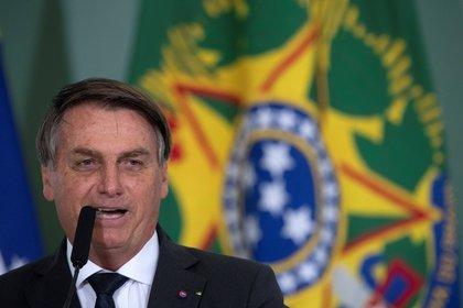 En la imagen, el presidente de Brasil, Jair Bolsonaro.  EFE / Jo & # 233;  dson Alves / Archivo