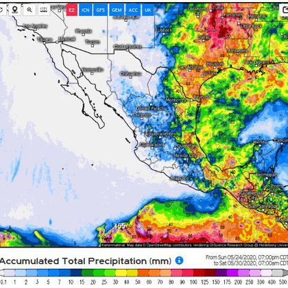 Imagen del Servicio Meteorólogo Nacional (Foto: Cortesía)